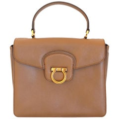 ead94753f2 Salvatore Ferragamo Leather Bag. HomeFashionHandbags and PursesTop Handle  Bags. Salvatore Ferragamo Sofia Satchel Pebbled Leather Large For Sale