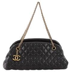 Chanel Just Mademoiselle Handbag Quilted Lambskin Medium