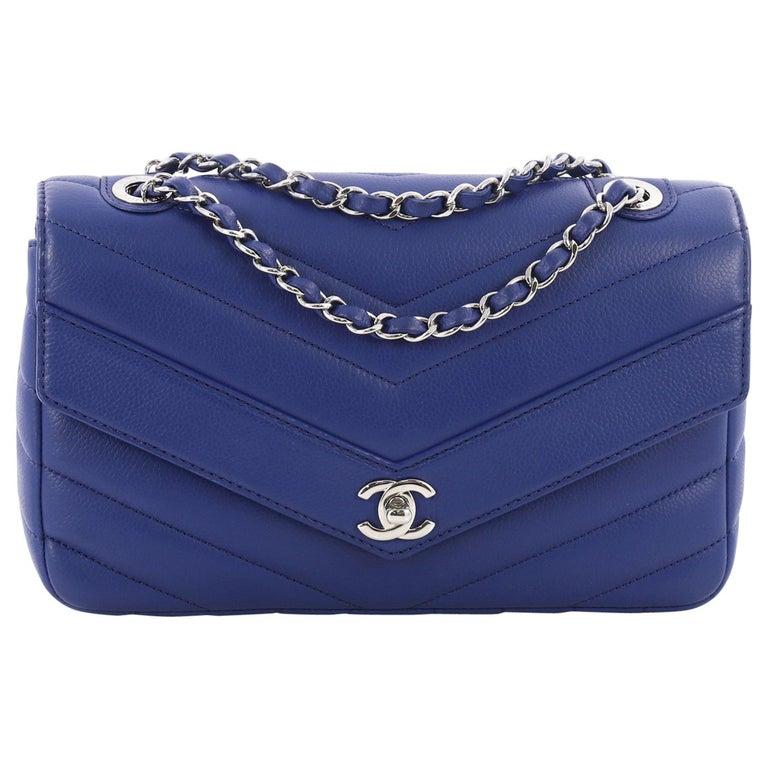 Chanel Data Center Envelope Flap Bag Chevron Caviar Large