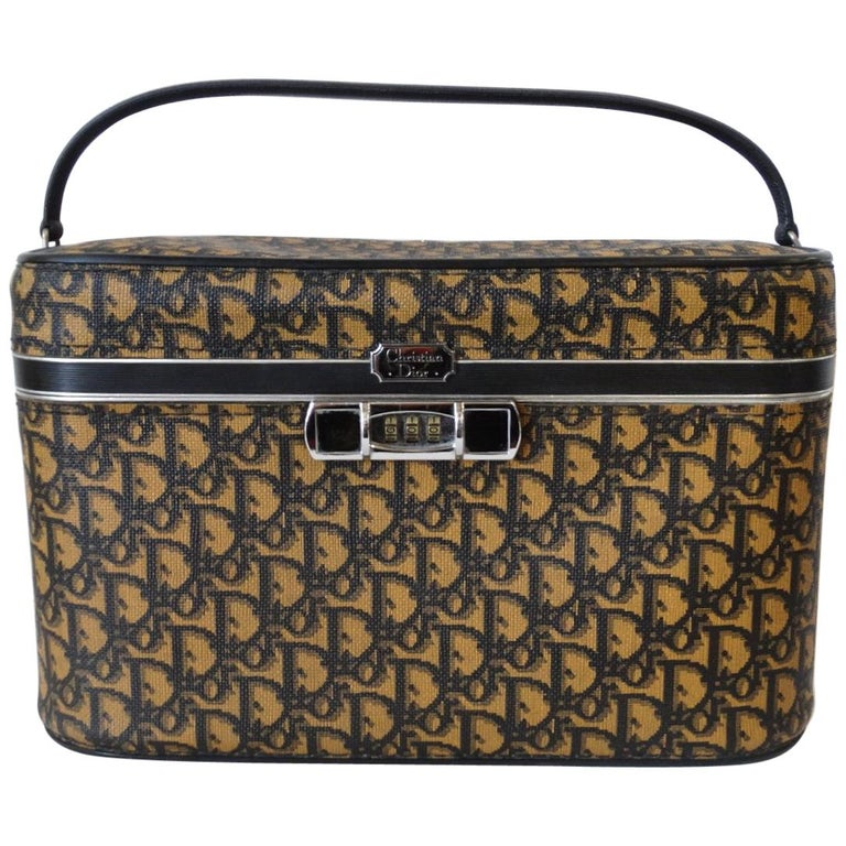 1970s Dior Monogram Cosmetic Vanity Bag at 1stdibs 0db4764d659a6