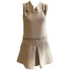 Gabriele Colangelo Grey Fleece Wool and Silk Dress