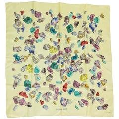Hermes Minereaux Silk Twill Scarf designed by Hugo Grygkar 1959  34 x 34