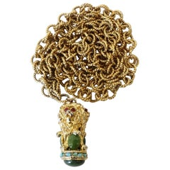 Gold Plated Lion Pendant Necklace