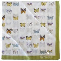 Hanae Mori Butterfly Printed Handkerchief