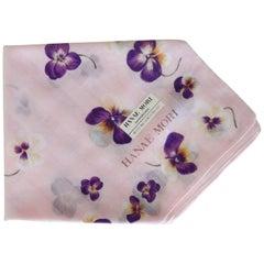 Hanae Mori Pansy Printed Handkerchief