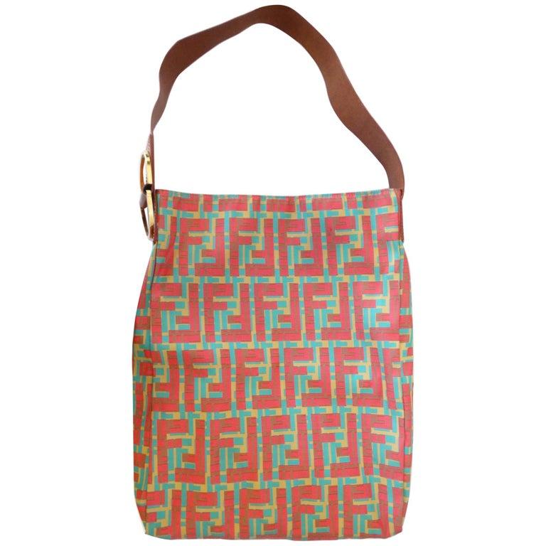 2000s Fendi Contrasting Zucca Shoulder Bag