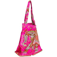 Hermes Orange Hot Pink Silky Pop Bag