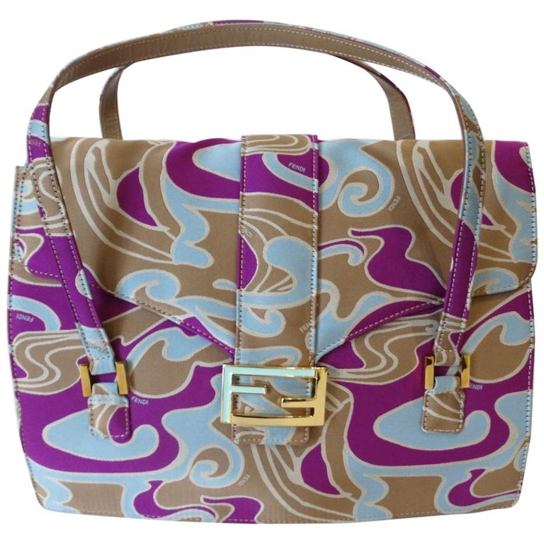 2000s Fendi Psychedelic Swirl Bag  For Sale