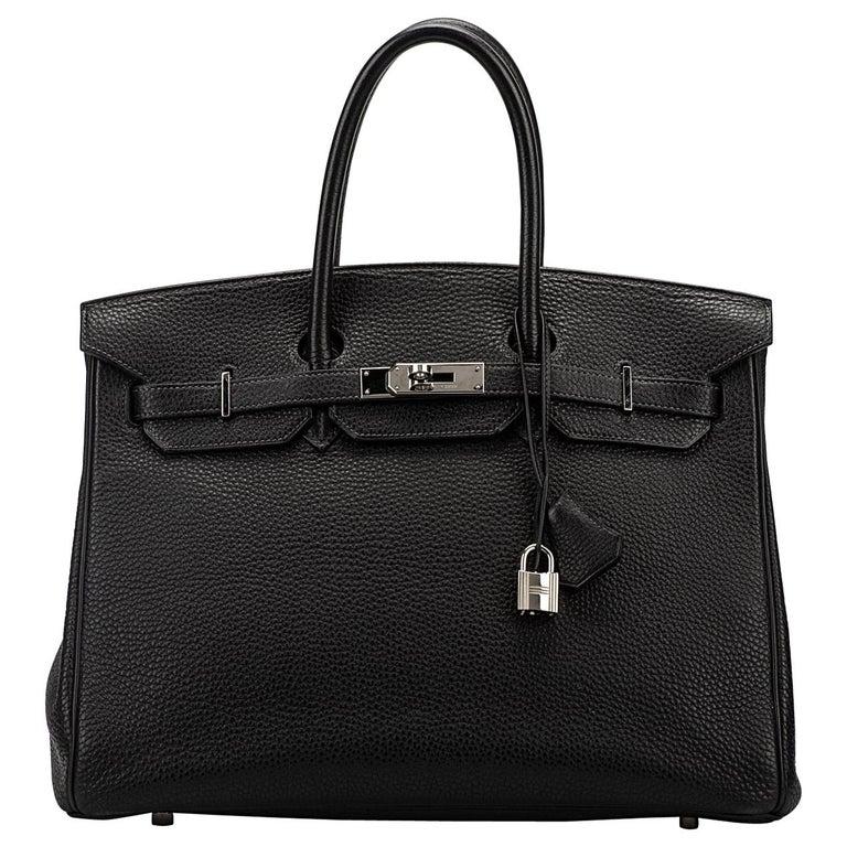 Hermes blue Indigo Clemence Birkin 35 Bag