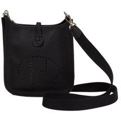 Hermes Mini Evelyne Black Epsom Bag