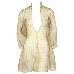 Mariano Fortuny Silk Gauze Jacket With Gold Stamping, Circa 1910