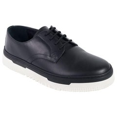 Valentino Mens Black Point Break Leather Derby Sneakers
