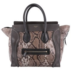 Celine Luggage Handbag Python Mini