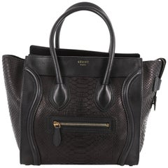 Celine Luggage Handbag Python Micro