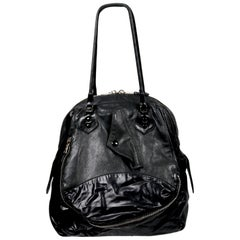 Nicolas Ghesquiere For Balenciaga Black Leather And Nylon Parachute Bag, 2003