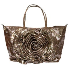 Valentino Tote Bag in Brown Sequins