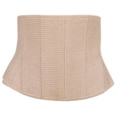 Chanel Vintage Classic Tweed Baby Pink Corset Belt