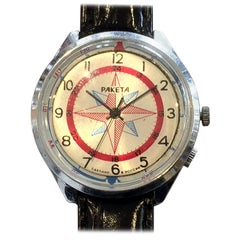 Paketa Mid Century Russian Compass Turn Automatic Wristwatch