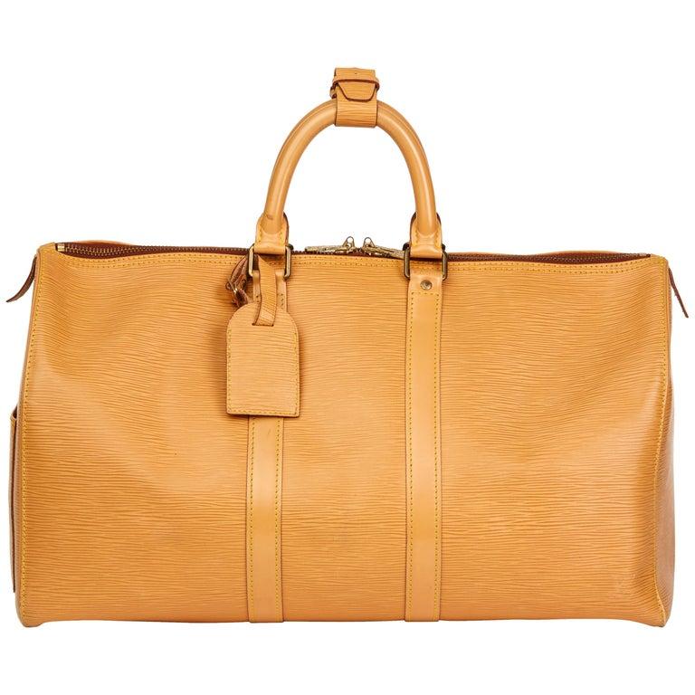 5edd3fdf0c7 Louis Vuitton Winnipeg Beige Epi Leather Vintage Keepall 45, 1988 For Sale