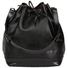 1990 Louis Vuitton Black Epi Leather Vintage Noé Bag 8351118235cad