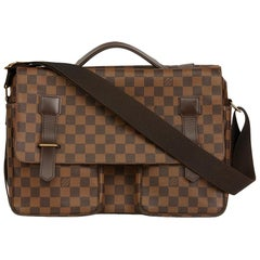 Louis Vuitton Brown Damier Ebene Coated Canvas Broadway Bag, 2001