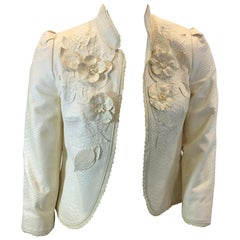 The Wright's Winter White Leather Jacket
