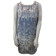 Chanel Blue and White Knit Dress