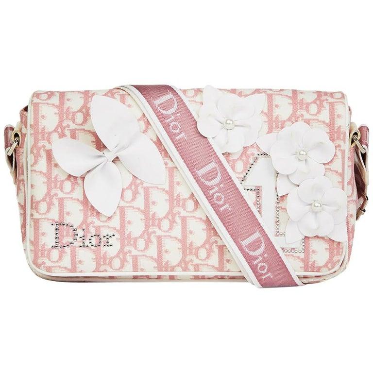e2b485563147 2004 Christian Dior Pink Monogram Canvas No.1 Girly Flap Bag at 1stdibs