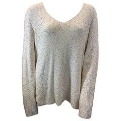 Armani White Sequin Sweater NWT