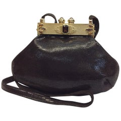 Moulin Rouge Brown Skin Crossbody with Stones