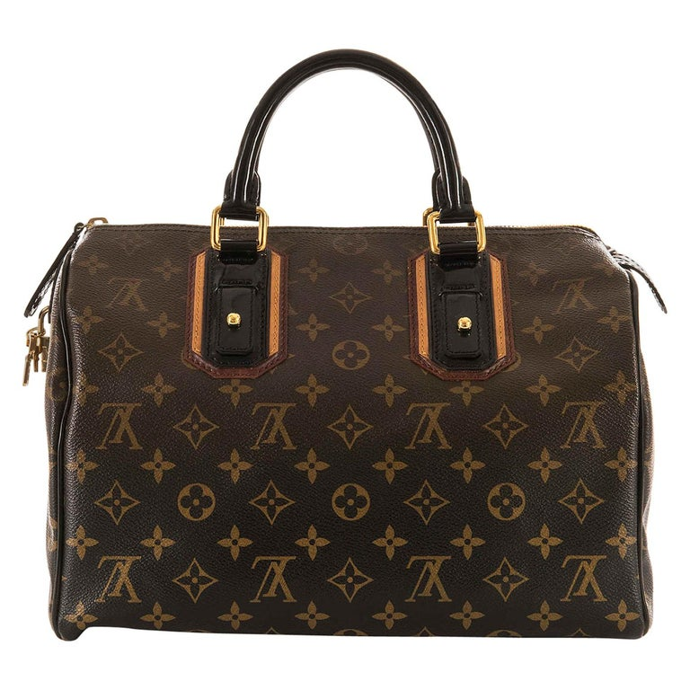 WOW Rare Limited Edition Louis Vuitton 'Sac Mirage' Speedy 30 Logo Handbag GHW