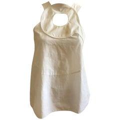 Givenchy White Cotton Blouse with circular Design 38