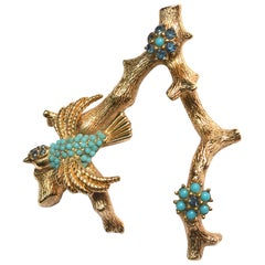 1960s Ciner Bird Brooch