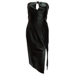 Thierry Mugler Vintage Leather Dress