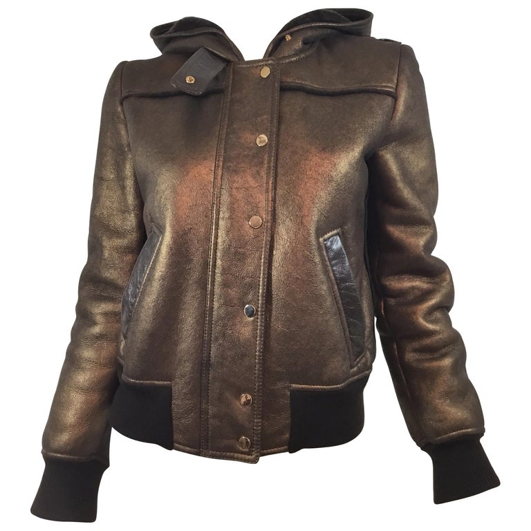 Dolce & Gabbana Shearling Hooded Jacket  For Sale