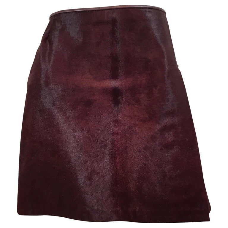 Dolce & Gabbana Pony Fur Mini Skirt Circa 1990's