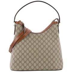 Gucci Linea A Hobo GG Coated Canvas