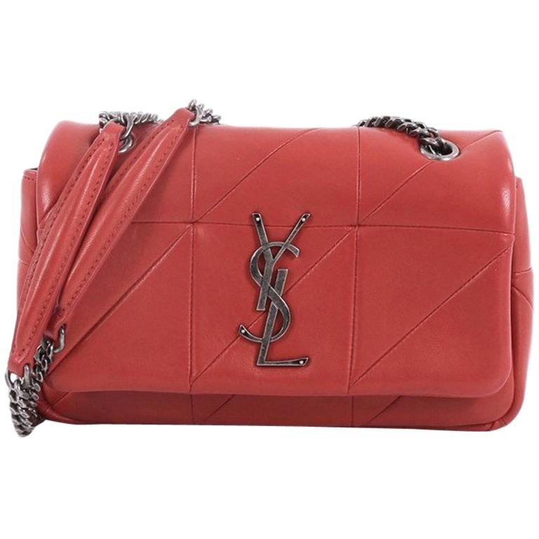 f5bc3032461d Saint Laurent Monogram Jamie Flap Bag Quilted Leather Small at 1stdibs