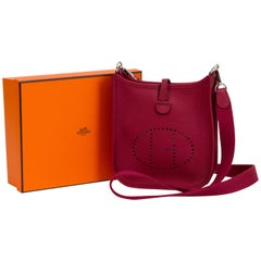 New Hermes Mini Evelyne Rouge Grenat