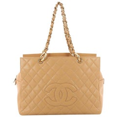 Chanel Grand Timeless Shopping Tote Quilted Caviar
