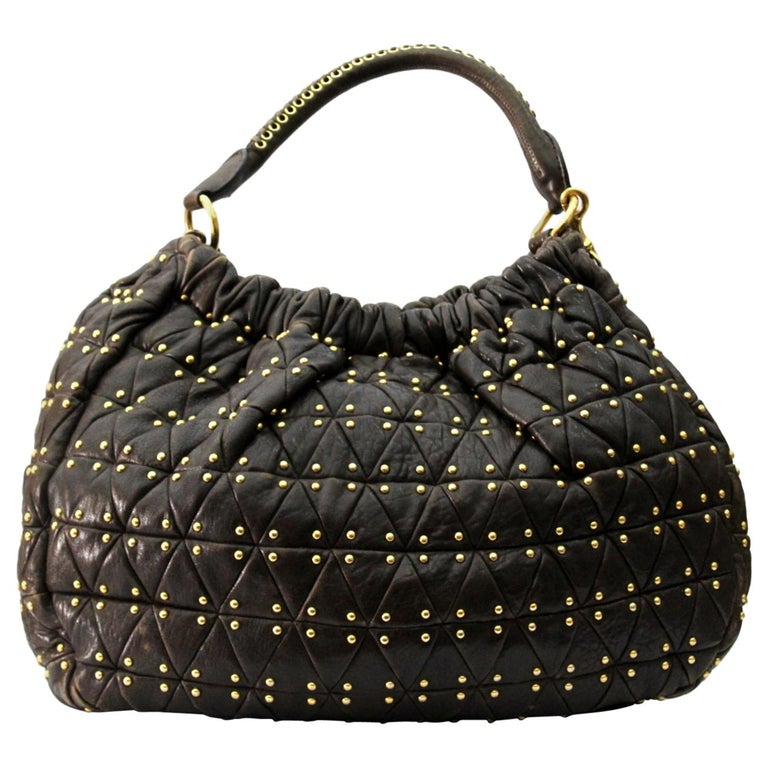 d3cacdb57132 Miu Miu Brown Leather Shoulder Bag For Sale at 1stdibs