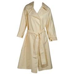 Cream The Row Waterproof Cotton Trench Coat