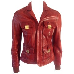 Dsquared2, red leather jacket