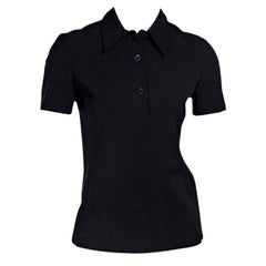 Black Prada Nylon Polo Shirt