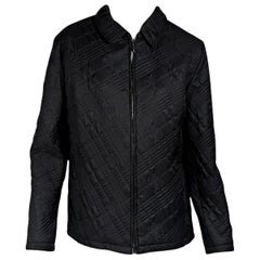 Dark Grey Burberry London Quilted Jacket