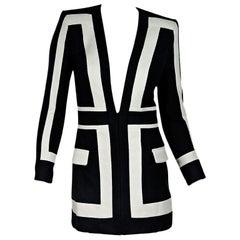 Black & White Balmain Striped Balzer