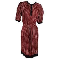 Red Vintage Emanuel Ungaro Polka-Dot Tea Dress