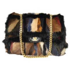 Chanel Mink Fur Chain Handle Bag 2001 A Collection