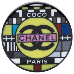New Chanel In Box Lucite Television Pin