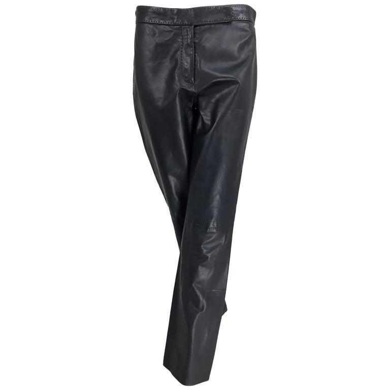 Ralph Lauren Purple Label Black Leather trouser NWT Size 8